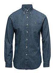Slim Fit Chambray Shirt - DARK WASH