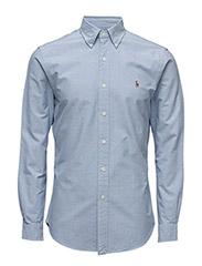 Slim Fit Cotton Oxford Shirt - BSR BLUE