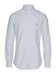 Slim Fit Cotton Oxford Shirt - BSR BLU/WHT