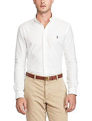 Polo Ralph Lauren - Slim Fit Cotton Oxford Shirt - basic shirts - white - 0