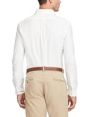 Polo Ralph Lauren - Slim Fit Cotton Oxford Shirt - basic shirts - white - 3
