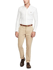 Polo Ralph Lauren - Slim Fit Cotton Oxford Shirt - basic shirts - white - 4