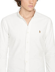 Polo Ralph Lauren - Slim Fit Cotton Oxford Shirt - basic shirts - white - 5