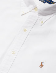 Polo Ralph Lauren - Slim Fit Cotton Oxford Shirt - basic shirts - white - 8