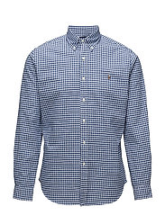 Slim Fit Cotton Oxford Shirt - BLUE/WHITE GING