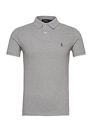 Slim Fit Mesh Polo Shirt - ANDOVER HEATHER/C