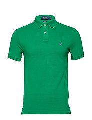 Slim Fit Mesh Polo Shirt - BILLIARD