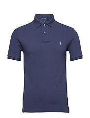 Slim Fit Mesh Polo Shirt - BOATHOUSE NAVY/C7