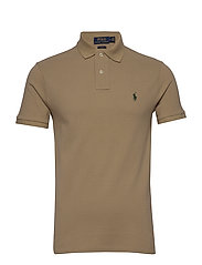 Slim Fit Mesh Polo Shirt - BOATING KHAKI/C59