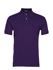 Slim Fit Mesh Polo Shirt - BRANFORD PURPLE
