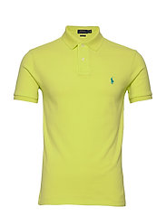 Slim Fit Mesh Polo Shirt - BRIGHT PEAR/C41AN
