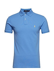 Slim Fit Mesh Polo Shirt - CABANA BLUE