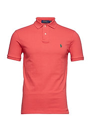 Slim Fit Mesh Polo Shirt - CACTUS FLOWER