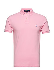 Slim Fit Mesh Polo Shirt - CARMEL PINK