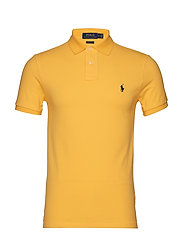 Slim Fit Mesh Polo Shirt - CHROME YELLOW