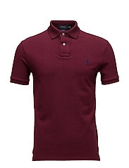 Slim Fit Mesh Polo Shirt - CLASSIC WINE