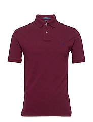 Slim Fit Mesh Polo Shirt - CLASSIC WINE/C798