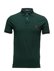 Slim Fit Mesh Polo Shirt - COLLEGE GREEN