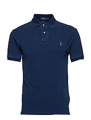 Slim Fit Mesh Polo Shirt - DARK INDIGO