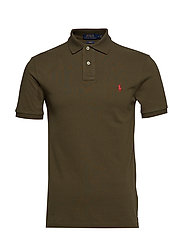 Slim Fit Mesh Polo Shirt - DEFENDER GREEN