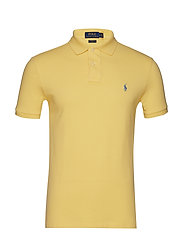 Slim Fit Mesh Polo Shirt - EMPIRE YELLOW