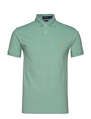 Slim Fit Mesh Polo Shirt - FADED MINT