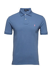 Slim Fit Mesh Polo Shirt - FRENCH BLUE/C3125