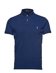 Slim Fit Mesh Polo Shirt - FRESHWATER