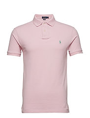 Slim Fit Mesh Polo Shirt - GARDEN PINK