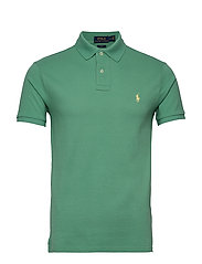 Slim Fit Mesh Polo Shirt - HAVEN GREEN/C1382