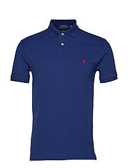 Slim Fit Mesh Polo Shirt - HOLIDAY SAPPHIRE