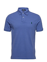Slim Fit Mesh Polo Shirt - INDIGO SKY/C5980