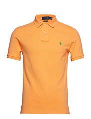 Slim Fit Mesh Polo Shirt - KEY WEST ORANGE
