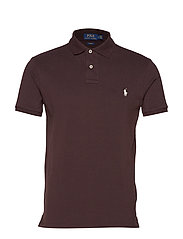 Slim Fit Mesh Polo Shirt - MEDIEVAL BROWN/C1