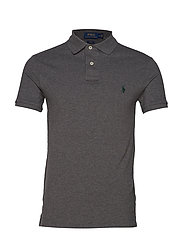 Slim Fit Mesh Polo Shirt - MEDIUM FLANNEL HE