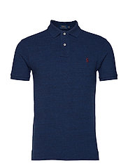 Slim Fit Mesh Polo Shirt - MONROE BLUE HEATH