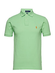 Slim Fit Mesh Polo Shirt - NEW LIME
