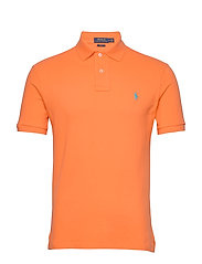 Slim Fit Mesh Polo Shirt - ORANGE FLASH/C41A