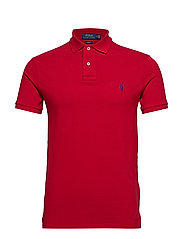 Slim Fit Mesh Polo Shirt - PIONEER RED/C7315