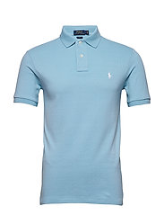 Slim Fit Mesh Polo Shirt - POWDER BLUE/C1750