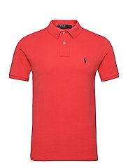 Slim Fit Mesh Polo Shirt - RACING RED/C7315