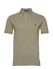 Slim Fit Mesh Polo Shirt - SAGE GREEN/C7998