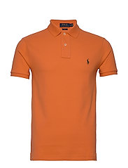 Slim Fit Mesh Polo Shirt - SOUTHERN ORANGE/C