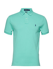 Slim Fit Mesh Polo Shirt - SUNSET GREEN