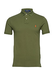 Slim Fit Mesh Polo Shirt - SUPPLY OLIVE