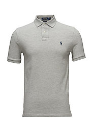 Slim Fit Mesh Polo Shirt - TAYLOR HEATHER