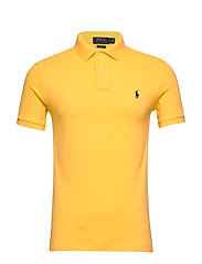 Slim Fit Mesh Polo Shirt - YELLOWFIN/C7315