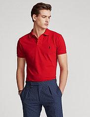 Polo Ralph Lauren - Slim Fit Mesh Polo Shirt - krótki rękaw - rl2000 red - 0