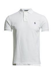 Slim Fit Mesh Polo Shirt - WHITE
