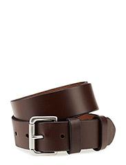 Calfskin Leather Belt - BROWN